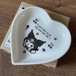 KUROMI-NWT VERY RARE Ceramic Heart Trinket Dish